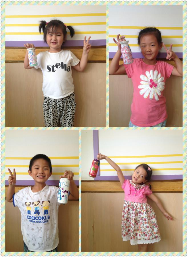 幼儿园双人合照创意造型