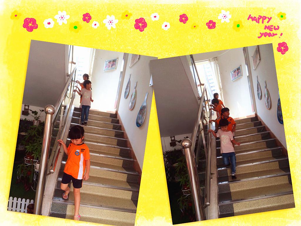 幼儿园栏杆扶手手工装饰